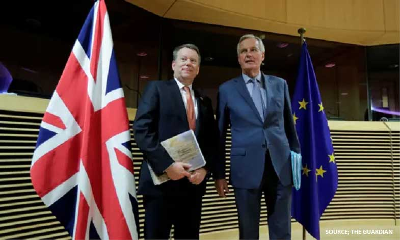 Barnier and Frost at EU27-UK talks